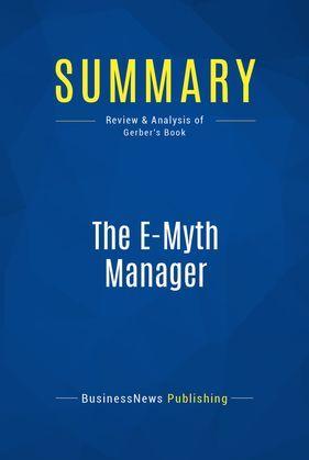 Summary: The E-Myth Manager