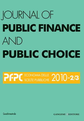 Journal of Public Finance and Public Choice n. 2-3/2010