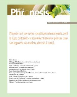 Phronésis. Vol. 3, numéro 3   2014