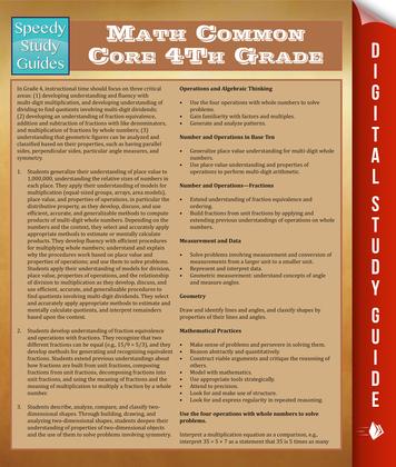 Math Common Core 4Th Grade