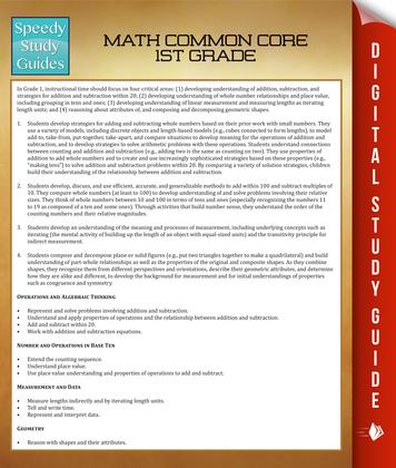 Math Common Core 1St Grade