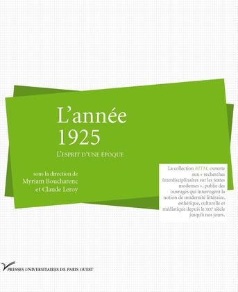 L'année 1925