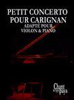 Petit concerto pour Carignan_Violon solo